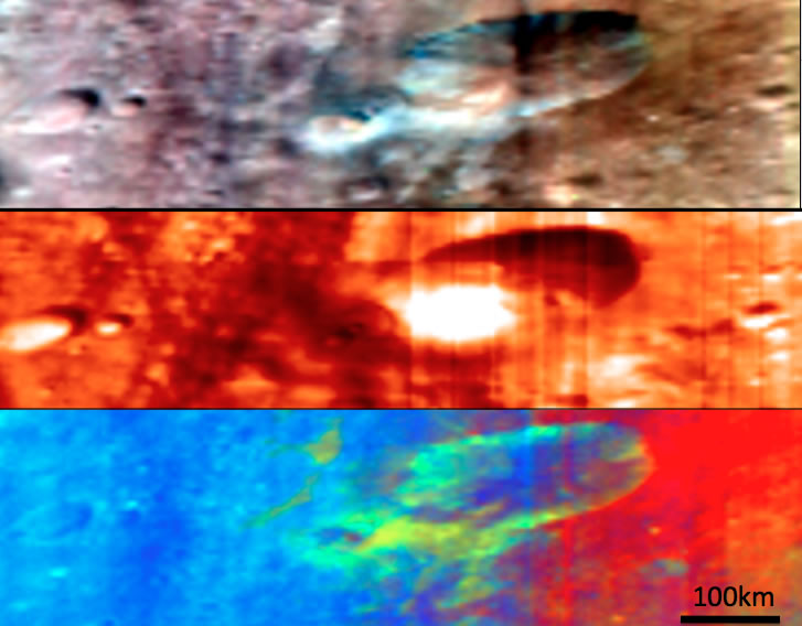 Vesta's Oppia crater, many views from Dawn's VIR