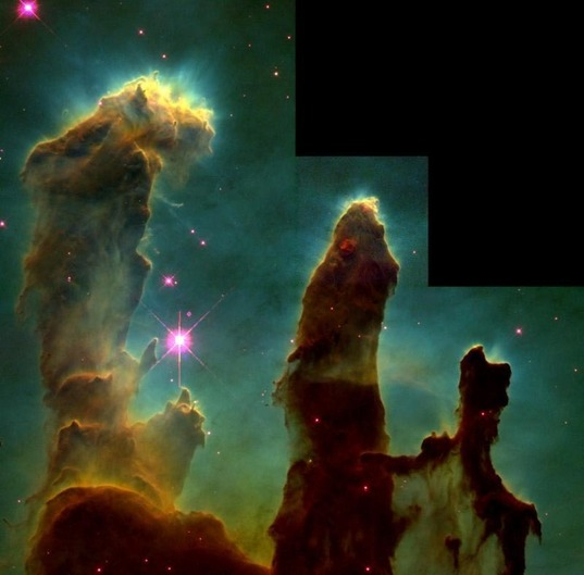 Swirls of cosmic space stuff