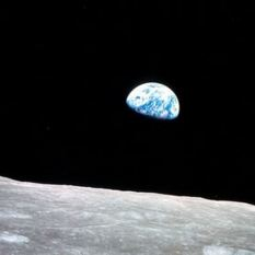 Christmas Eve Image of Earth from Apollo 8
