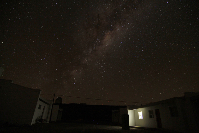 Galactic Center from Sutherland, South Africa