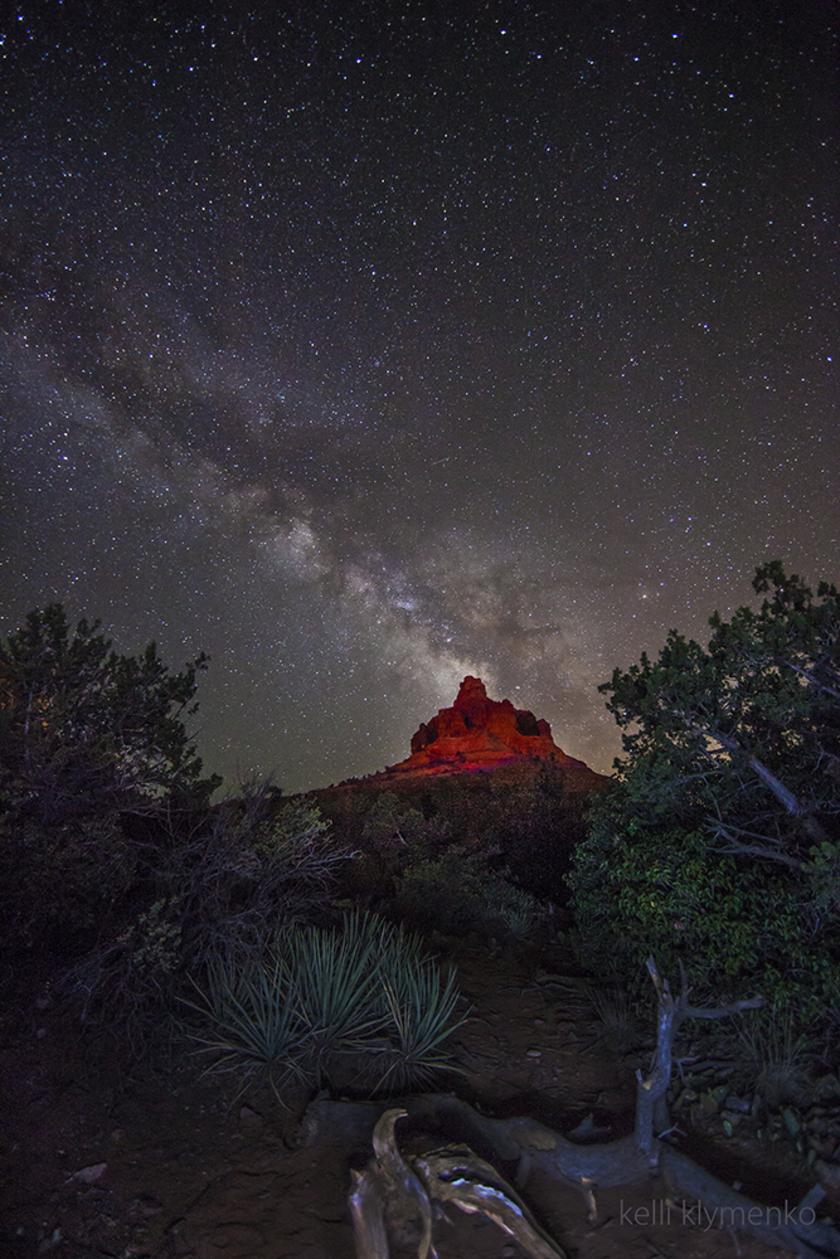 Milky Way over Bell Rock
