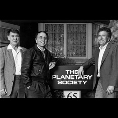 Founders of The Planetary Society (1989, outside 65 N. Catalina Ave.)