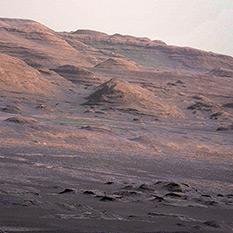 Demosaiced version of a Mastcam-100 image of Mt Sharp