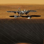 InSIGHT artist's concept on Mars