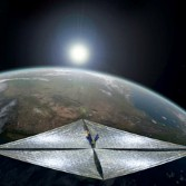 LightSail artist's concept over Earth
