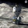 Human asteroid mission artist concept