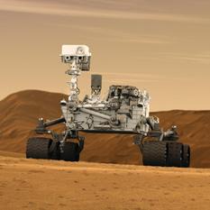 Curiosity artist's concept on Mars
