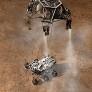 Curiosity artist's concept EDL 50 touchdown