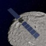 Dawn artist's concept orbiting asteroid Vesta