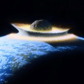 During the first few hundred million years after oceans appeared on the young Earth, life may have repeatedly begun only to be erased in planetwide sterilization events as very large planetoids were colliding with the larger worlds.