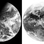 The Earth from GOES-East in visible and infrared