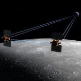 GRAIL artist's concept measuring gravity