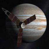 Juno artist's concept at Jupiter