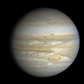 A spectacular high-resolution view of Jupiter's globe from Voyager 2, processed by Bjorn Jonsson.