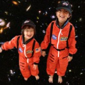 Sanaya and Anahita Lakdawalla in flight suits