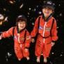 Sanaya and Anahita Lakdawalla in flight suits