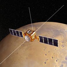 Mars Express artist's concept at Mars