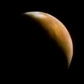 Crescent Mars, from Mars 3, processed by Ted Stryk