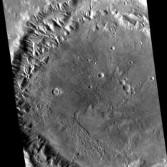 Crater in Tempe Terra, Mars