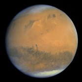 Rosetta snapped this frame-filling view of Mars as it approached for its February 24, 2007 gravity assist flyby of the planet.