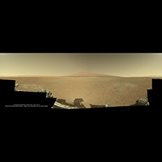 Curiosity's first panorama