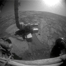 Opportuity forward hazcam view, sol 1621, Duck Bay