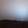 On May 19th, 2005, NASA's Mars Exploration Rover Spirit captured this stunning view as the Sun sank below the rim of Gusev crater on Mars. This Panoramic Camera (Pancam) mosaic was taken around 6:07 in the evening of the rover's 489th martian day, or sol.