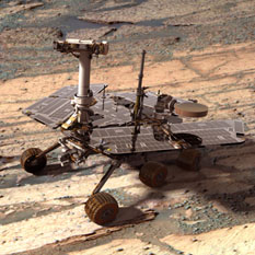 Mars Exploration Rover artist's concept Opportunity within Endurance Crater