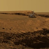 Mars Exploration Rover artist's concept Opportunity at Victoria Crater, on Mars