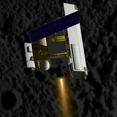 MESSENGER artist's concept at Mercury entering orbit
