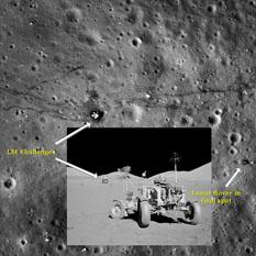 Apollo 17 landing site as seen from LRO
