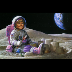 The Ultimate Sandbox, a painting by renowned science fiction artist Michael Whelan