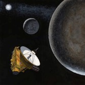 New Horizons artist's concept exploring Pluto and Charon