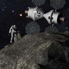 Human asteroid mission using an Orion crew capsule