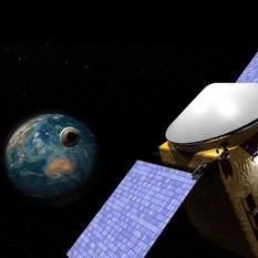 OSIRIS-REx artist's concept returning its sample return capsule to Earth