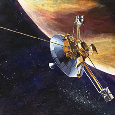 Pioneer 10 or 11 artist's concept at Jupiter