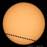 A composite photo of the 2004 Transit of Venus by Fred Espenak.
