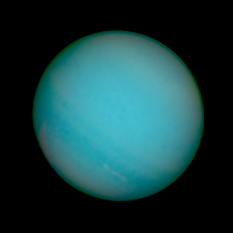 Uranus from Hubble WFC3 on December 25, 2011