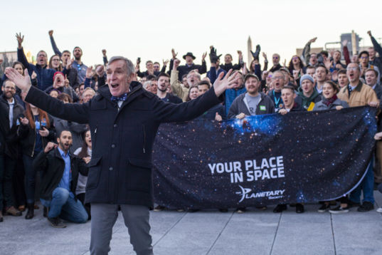 Bill Nye with Participants of the 2020 Day of Action