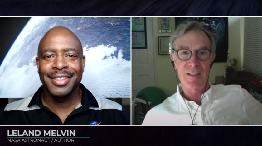 Leland Melvin and Bill Nye