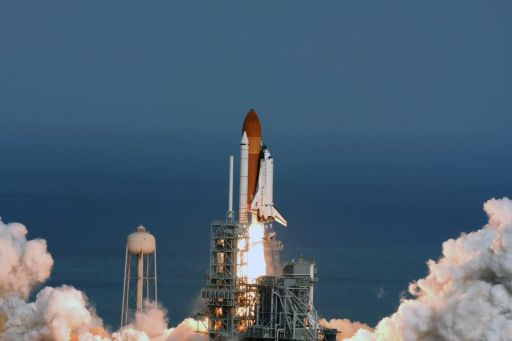 Space Shuttle Atlantis launches Columbus to ISS