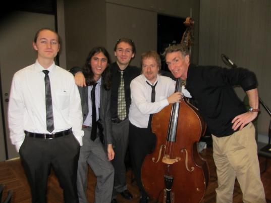 Hedgehog Swing quartet and new fan Bill Nye