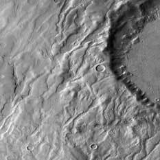 MRO image of crater with drainage system