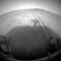 Spirit's rear view, sol 1,856