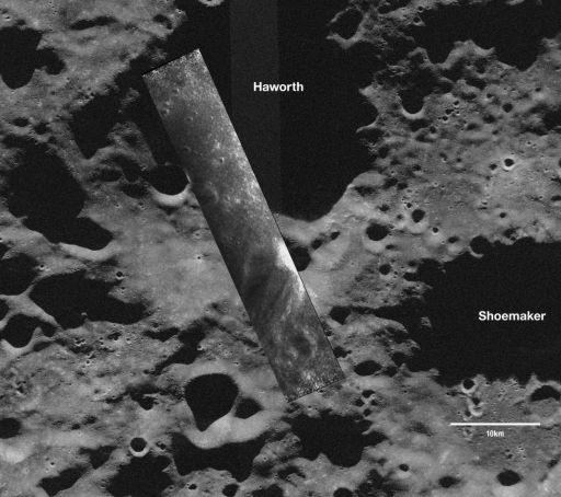 Chandrayaan-1 MiniSAR image of a south polar crater