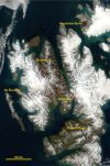 Satellite Image of Svalbard