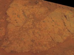 Chester Lake in natural Martian color