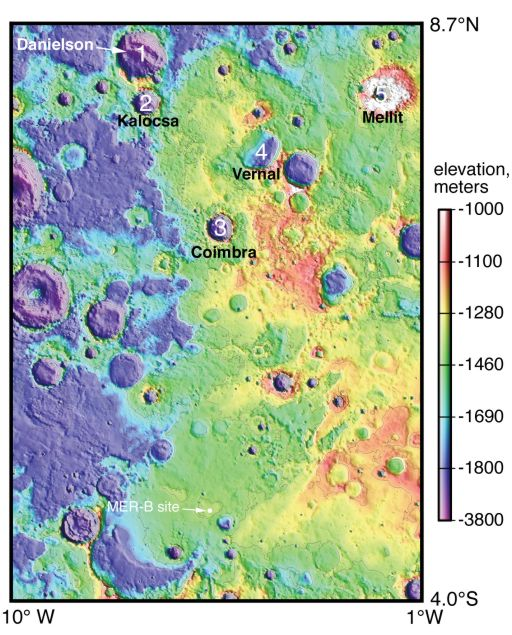 Danielson Crater Might Have Been Buried