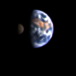 Deep Impact view of Earth and the Moon