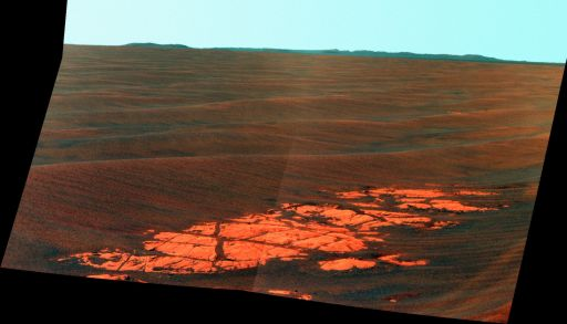 Endeavour Crater on the horizon